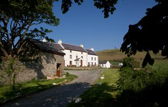 Approaching Knockaloe Beg Farmhouse up our private driveway on the west coast of the Isle of Man