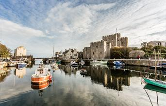 Castle Rushen across the Harbour