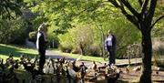 Feeding the Ducks at the Arboretum