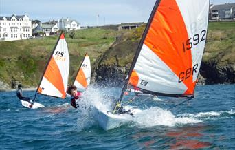 Manx Youth Sailing Squad training at 7th Wave in preparation for RS Tera National and World Championships