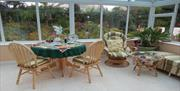 Thie Shey conservatory where breakfast is served