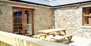 Ballavartyn Holiday Homes Exterior 9 - Rear Patio